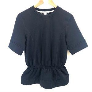Lululemon Peplum Pullover in Black